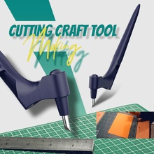 Zezzo® Craft Cutting Tools Rotary Paper Jam Pattern Carving Knife Leather Fabric Sculpture Engraving Cutter DIY Patchwork Tools