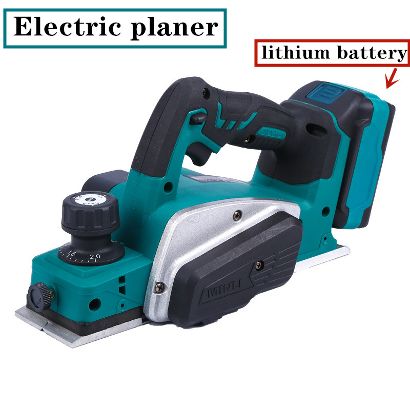 Lithium Electric Planer Industrial Grade Multifunctional Electric Planer Woodworking Portable Press Planer Portable