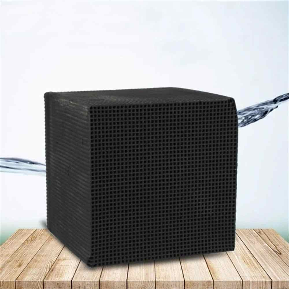 10X10CM Eco-Aquarium Water Purifier Cube Ultra Strong Filtration & Absorption Honeycombed Activated Carbon Block #B
