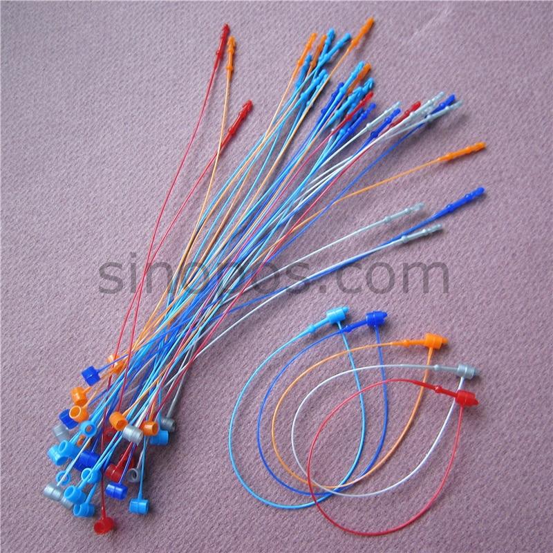 "4000 Pcs WHITE COMBO 3/"" /& 5/"" Plastic Tags Snap Lock Loop Pin Fasteners Manual"