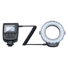 Macro LED Ring Flash Bundle With 8 Adapter Ring For Nikon Olympus Panasonic DSLR Camera Flash V HD130 Photographic accessories(China)