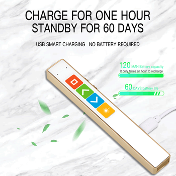Charging PPT conference page turning pen 2.4g electronic remote control pen multi-function electronic pen pointer pen