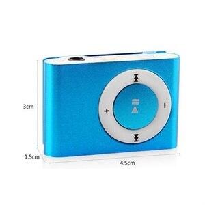 Image 5 - 1PCs Mini Tragbare USB MP3 Player Mini Clip MP3 Wasserdichte Sport Compact Metall Mp3 Musik Player mit TF Karte slot Candy Farben
