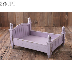 Image 3 - Vintage Posing Wood Bed For Baby Newborn Photography Props Photo Flokati Shoot Studio Accessories Fotografia Photoshoot Baskets