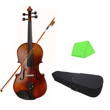 Bridge Viola Wood with Bow Cleaning-Cloth Carry-Box for Adults Children Beginner 16inch