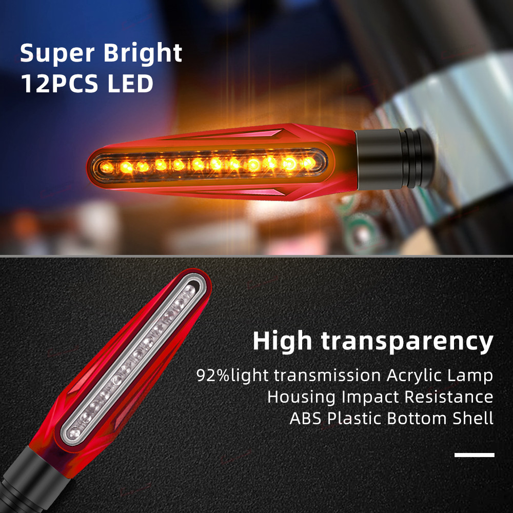 lowest price For Ducati 749 748 Multistrada Universal Motorcycle Turn Signals LED Blinker Flashing Indicator Rear Signal Flasher Moto Light
