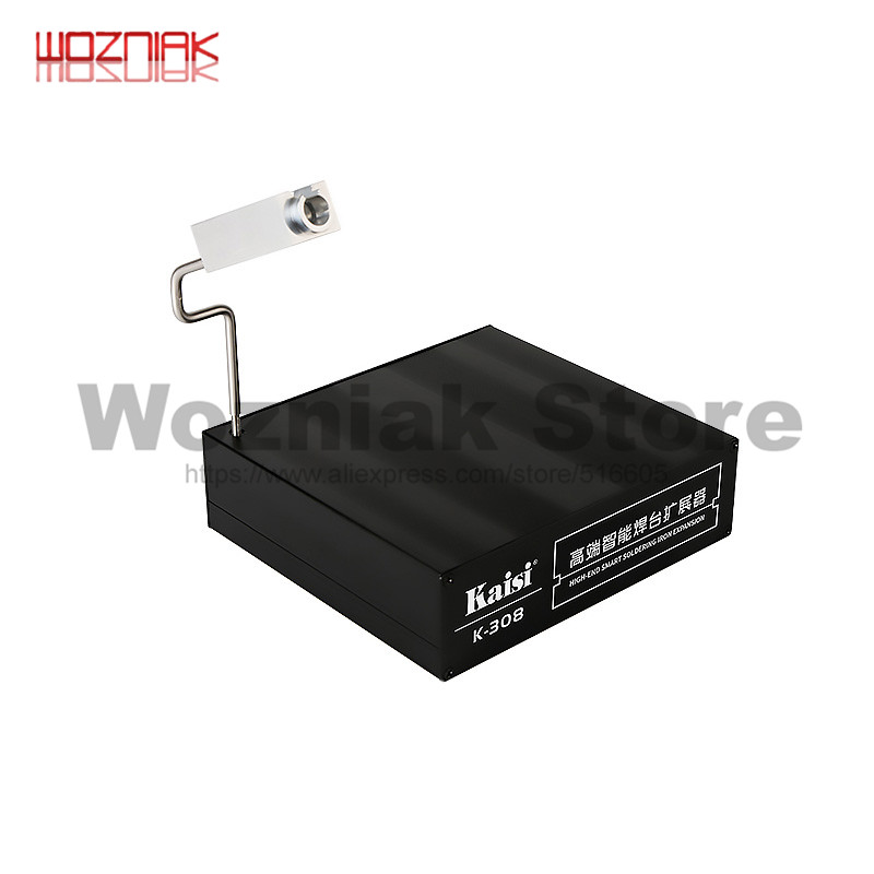 KAISI K-308 Soldering Iron Head Extension Platform Handle Extension Box T12 UD1200 JBC Extended Dual Position Work Welding
