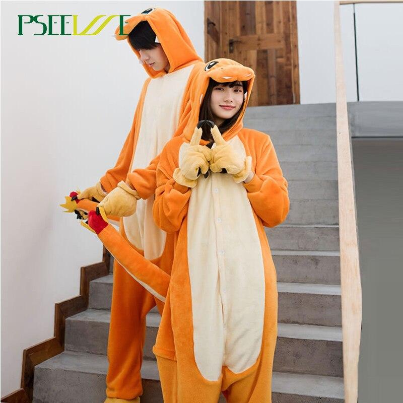 Kigurumi  Animal Pajamas Onesie Women Men Pegasus Winter Flannel Pajama Adult Nightie Stitch Unicornio Couple Sleepwear Overall