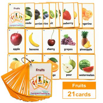 Dzieci dziecko angielski nauka słowo karta kieszeń Flash nauka Montessori zabawki edukacyjne słowo tabela gra karta dla dzieci tanie i dobre opinie HAPPY MONKEY 3 lat CN (pochodzenie) Papier