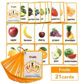 Tarjeta de aprendizaje de palabras en inglés para niños, juguete educativo Montessori de bolsillo para aprendizaje de palabras