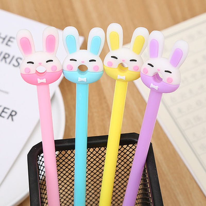 1pcs Rabbit Ear Gel Pen0.5mm Novelty Stationery Kawaii Pens Student Cartoon Gel Pen Creative Writing Pens Kawaii School Supplies
