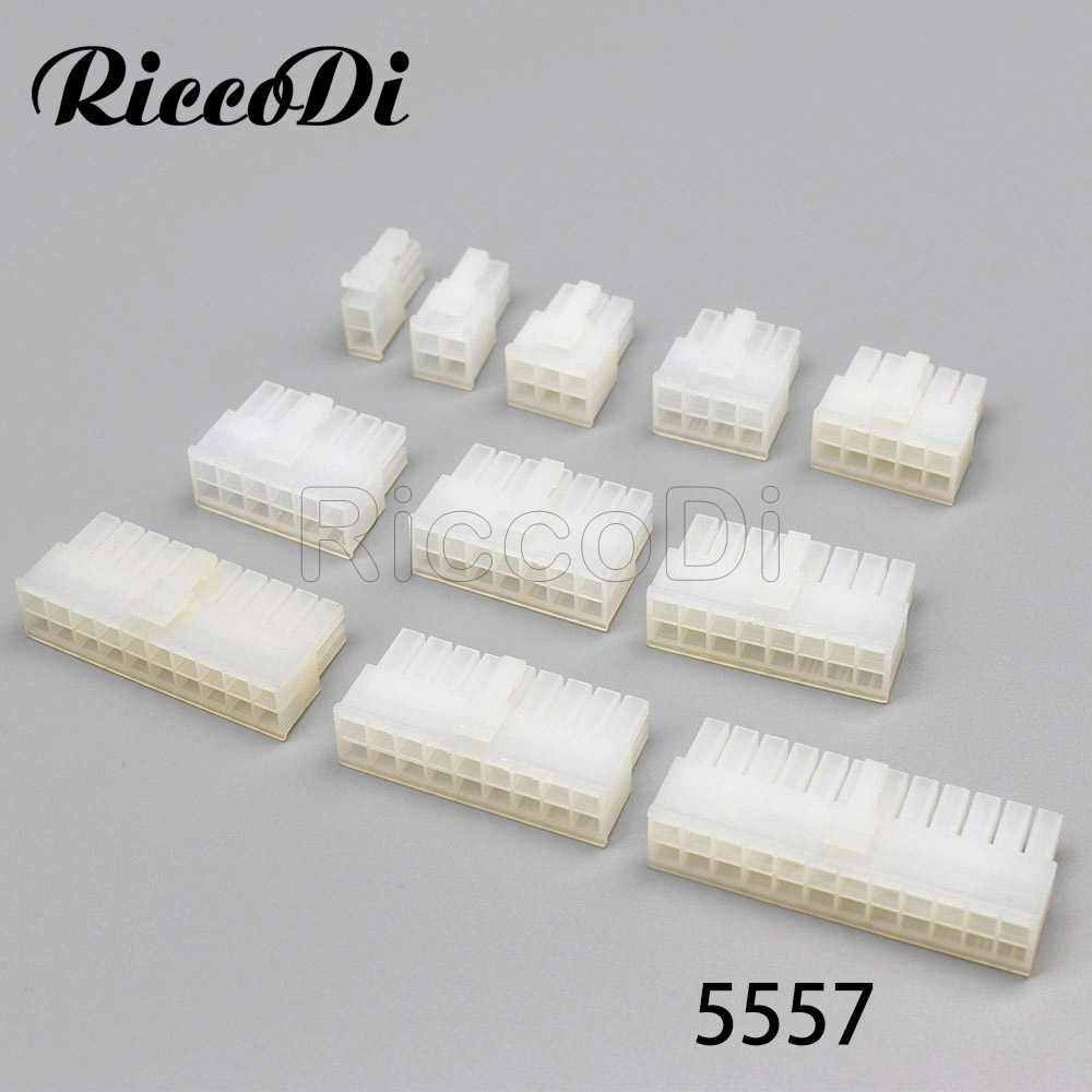 3-10PCS 2/4/6/8/10/12/14/16/ 18/20/24Pin Molex 4,2 Pitch ATX Stecker Plug Computer ATX Power Auto 5777 Transparent