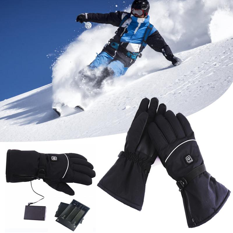 Heated Gloves Men Woman Warming Gloves Thermal Electric Gloves Waterproof Winter Warmer Slightly Motorcycle Skiing Gloves Hot