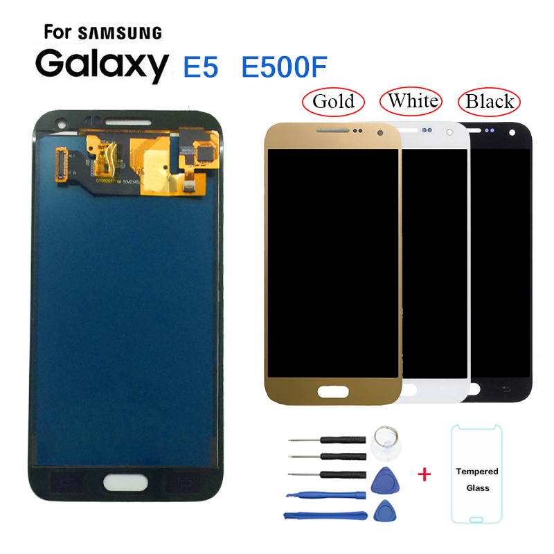 TFT <font><b>LCD</b></font> für SAMSUNG Galaxy E5 <font><b>LCD</b></font> Display Touch Screen Für Galaxy E5 E500 E500M E500F <font><b>E500H</b></font> <font><b>LCD</b></font> Display Helligkeit kann einstellen image