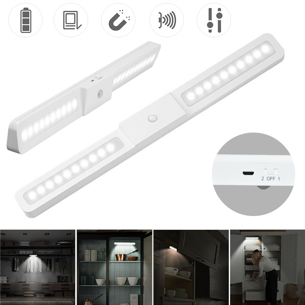 Wireless PIR Human Body Motion Sensor Night Light 3 Mode Switch Portable 20 LED Lamp Cabinet Wardrobe Closet Night Light