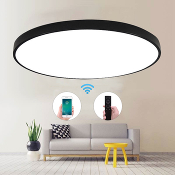 Ultra-Thin LED Ceiling Light Modern Lamp Living Room Lighting Fixture Bedroom Kitchen Surface Mount Flush Panel Remote Control yeelight smart led ceiling lamp indoor lighting modern led light fixture app remote control surface mounted for living room 50w