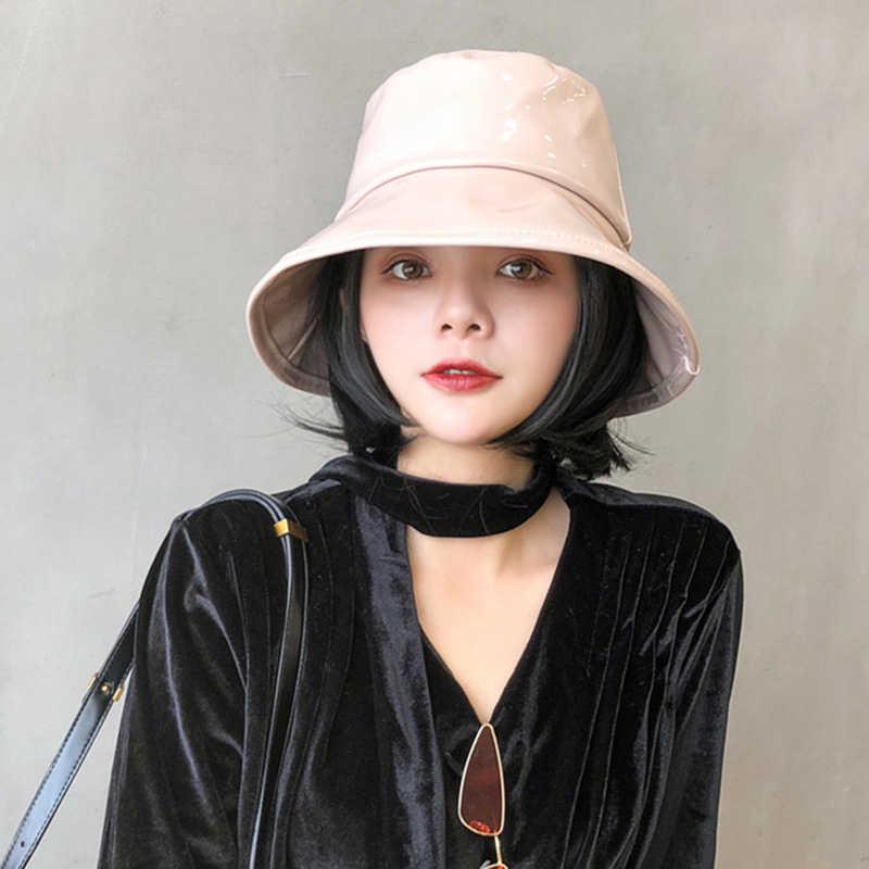 New Solid Color Basin Hat Women's Rain Hats Waterproof Rain Hat Wide Brim Bucket  Hat Rain Cap Street Wild Casual Fisherman Hats|Women's Bucket Hats| -  AliExpress