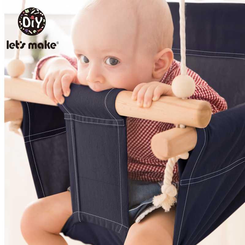 Vamos a hacer una silla de columpio de algodón para bebé, silla colgante de madera para niños, juguete de jardín de infantes, cesta de playa interior, silla de columpio