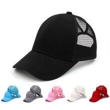 Adjustable Men's Caps Casual Plain Mesh Baseball Ca