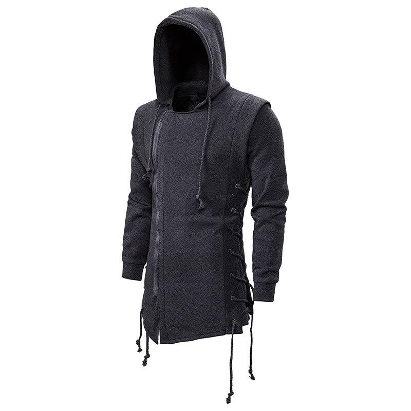 Men's Fashion Assassin's Creed Hooded  Dark Department Long Irregular Loose Coat