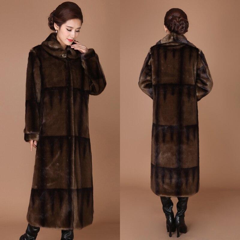 Faux Fur Coat Plus Size Long Winter Coat Women Clothes 2020 Women's Jackets Coats Womens Clothing Casaco Feminino KJ282