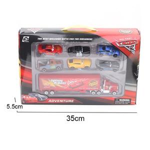 Image 5 - 7 ชิ้น/เซ็ต Disney Pixar Cars 3 Lightning McQueen Jackson Storm Cruz Mater รถบรรทุก MACK ลุง 1:55 Diecast Metal Car รุ่นของเล่นเด็ก