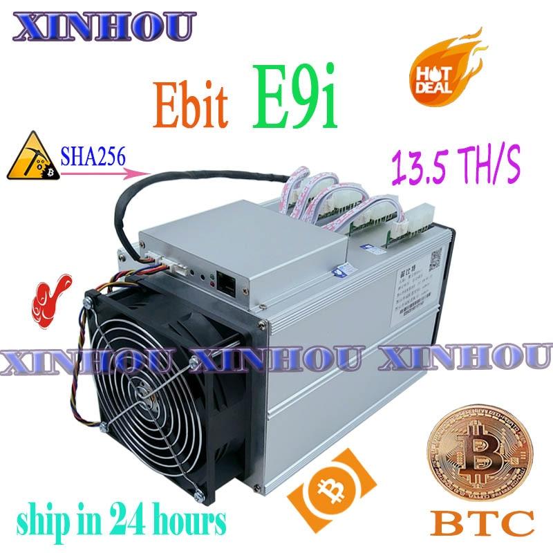 Used ASIC miner Ebit E9i 13.5T SHA256 Bitcoin BTC BCH Miner Economic Than E10.1 antminer S9 S9i S11 T15 S15 B7 Z11 M3 M10 T2T T3 1