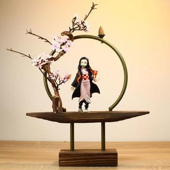 цена Devil's Blade Anime Figures Kamado Tanjirou Nezuko Demon Slayer PVC Action Figures Collectible Model Toys Doll Home Decoration онлайн в 2017 году