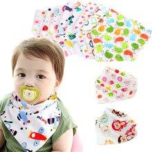 Многоразовые моющиеся хлопковые детские нагрудники из ткани с принтом стрелы, волн, треугольник, регулируемый нагрудник для младенцев