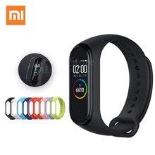 Versão global xiaomi mi banda 4 relógio inteligente pulseira miband 4 pulseira de freqüência cardíaca fitness tela colorida bluetooth 5.0 chinês