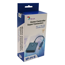 PS4/PC 조이스틱 게임 컨트롤러 용 PS3 용 PS2 용 브룩 슈퍼 컨버터 Logitech/sony 유선 컨트롤러 용 USB 어댑터