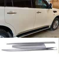 4PCS ABS Chrome Door Body Molding Fit For Nissan PATROL Y62 V8 2010 2011 2012 2016 2017 2018 Accessories Side Strips Trim Cover