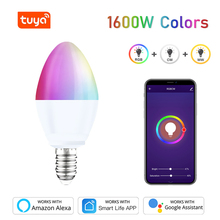 Dimmable-Light Smart-Bulb Wifi Home-Assistant Tuya Remote-Control-Work Google E14 Rgb