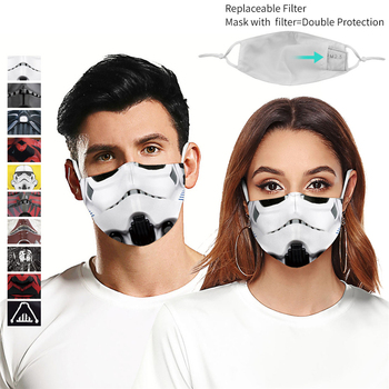 Star Wars 3D Print Mask Darth Vader Mandalorian Cosplay Face Mask For Men Women Outdoor Dustproof Windproof Washable Mouth Mask star wars face mask darth vader mandalorian cosplay costume accessories anime adult masks