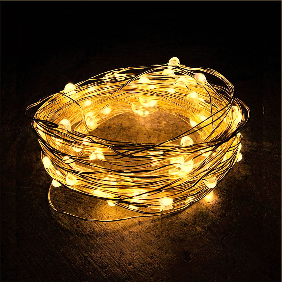 5m 10m Christmas LED String Lights New Year Garland Battery Powered Fairy Light Home Decoration Wedding Party Holiday Lighting