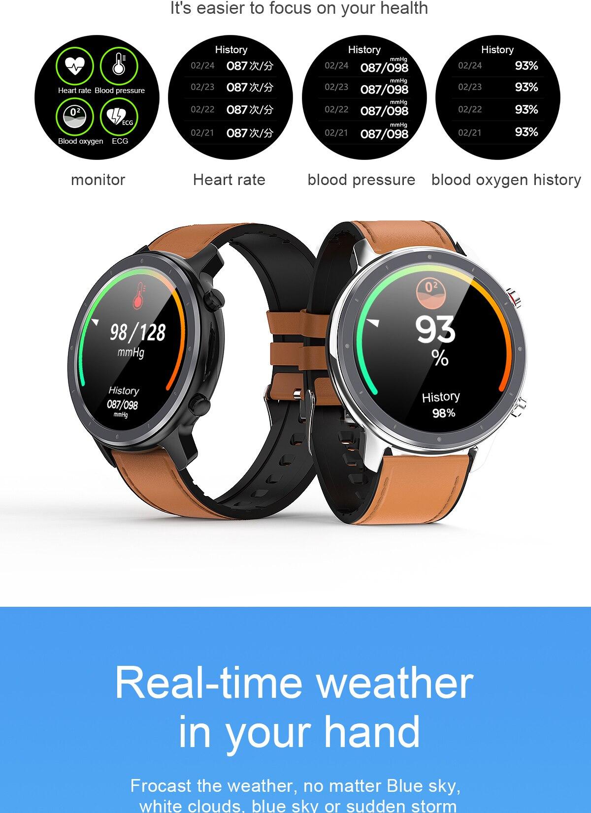 H57514465c2bb4383b976440b7db821f9i LEMFO 2020 Smart Watch Men Full Touch Screen  IP68