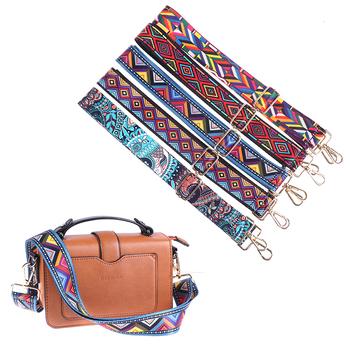 140CM torba rama do torebki pasek crossbody Messenger nylonowa torba paski dla kobiet wymienny DIY ramię Rainbow akcesoria torebkowe tanie i dobre opinie ZTBBAO CN (pochodzenie) About 80 g Women Bag Strap Pasek do torby