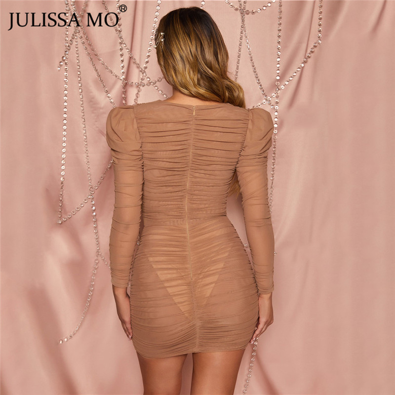 JULISSA MO mesh bodycon dress 2020 spring party dress (14)