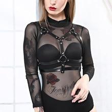 UYEE 2020 kobiety seksowna bielizna kobiety biustonosz Spenders pas bielizna skórzane Body do Bondage biust Cage uprząż pończochy