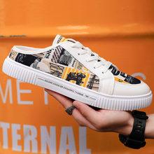 2020 мужские новые модные желтые туфли на плоской подошве летние