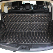 Lsrtw2017 Leather Car Trunk Mat Cargo Liner for Nissan Patrol 2010 2011 2012 2013 2014 2015 2016 2017 2018 2019 Armada Y62 2013 2017 non slip console tray central armest tray refrigerator for nissan patrol y62 armada accessories