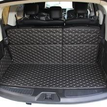 цены Lsrtw2017 Leather Car Trunk Mat Cargo Liner for Nissan Patrol 2010 2011 2012 2013 2014 2015 2016 2017 2018 2019 Armada Y62