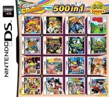 Cartucho de DRAGON Ball Z y Narutom para Nintendo, 500 juegos en 1, NDS, 2DS, nuevo, 3DS