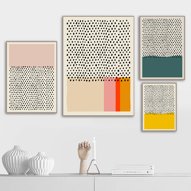 Abstract Color Line Wall Art Canvas Painting Minimalist Style Geometric Picture Poster and Print Gallery Living Room Home Decor