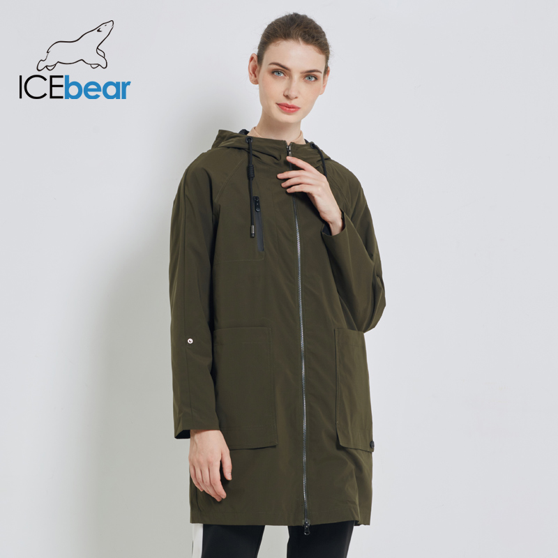 ICEbear 2019 New Women's Trench Coat Female Fashion With Full Sleeves Design Women Coats Spring Brand Casual Coat GWF18006D