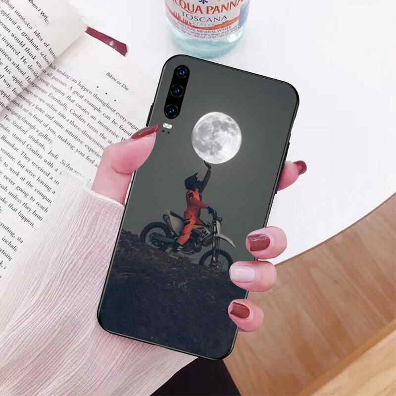 NBDRUICAI Moto צלב אופנוע ספורט DIY צבוע בלינג טלפון Case עבור Huawei P30 P20 Mate 20 פרו לייט חכם Y9 ראש 2019