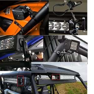 Image 2 - 2X barra de luz de tubo de toro Barra de luz LED soporte de montaje abrazaderas soporte para Auto coche camión Trailor Off Road ATV UTV