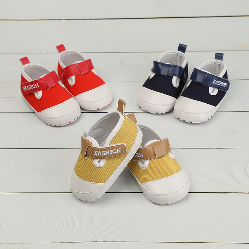 Toddlet Baby Boy Girl Shoes PU Leather Sneaker Cotton Sole Soft Light Newborn Infant Outside First Walkers Cirb Shoes Hook&Loop