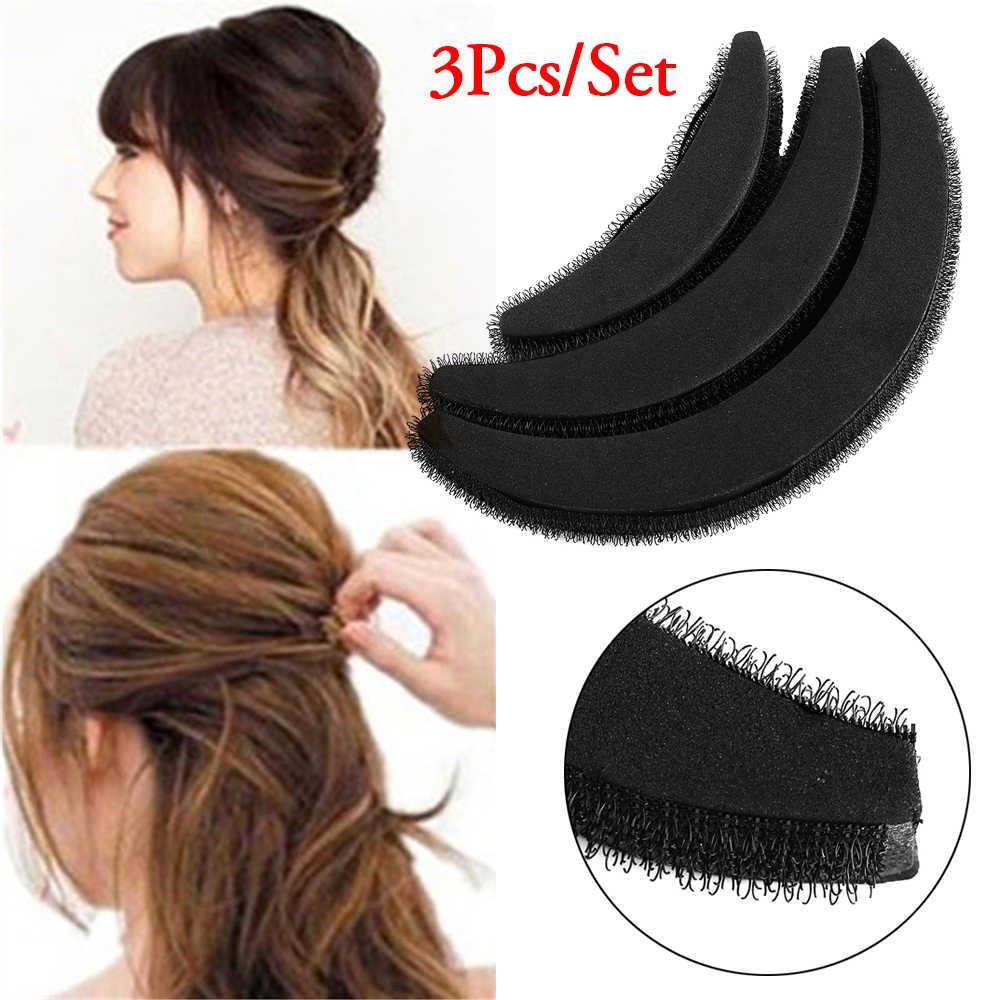 2 個ベース挿入見えないヘアピン通気性前髪マットヘアクリップ黒コーヒー王女髪ツールセットバンプそれをボリューム
