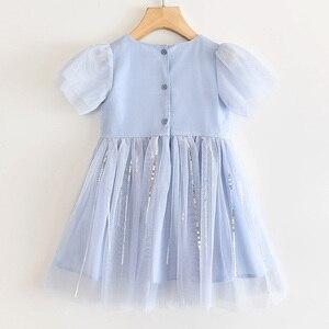 Image 2 - فستان للفتيات من LOVE DD & MM ملابس أطفال جديدة 2020 فستان الأميرة الشبكي المطرز على شكل فراشة حلوة للفتيات من 3 8 سنوات